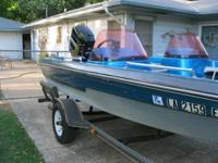 1991 VIP Fish n Ski. 17.5 foot, 115 hp Mercury with