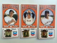 1991 Chevron Pins honoring 3 SFGiants All-Time Greats