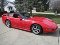 Very sharp Flame Red 1991 Corvette - ground impacts,