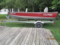 I HAVE A 1992 14' DEEP V (20' TRANSOM)  LUND BOAT WITH