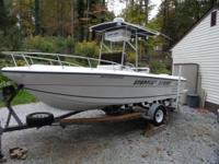 1992 204 Horizon by Angler 115 Johnson outboard,