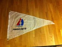 1992 Americas Cup Pennant  $200 OBO  Slight tater at