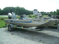 17' Bass Tracker for sale with a 50hp Johnson