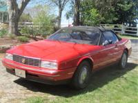 1992 Cadillac Allante Convertible ..94,302 Miles ..Red