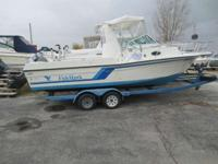 Plus it has a Tandem axle Trailer with Brakes. Boats