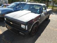 1992 CHEVROLET S10 2 WD AUTOMATIC THIS VEHICLE RUNS AND