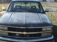 UP FOR SALE IS MY 1992 SILVERADO 4X4. IT'S A REGULAR
