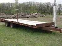 1992 CONTRAIL 10 TON TAG TRAILER, RATED AT 26,500 LBS.