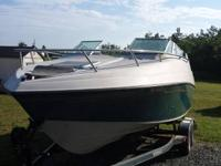 1992 Crownline 210C 21ft cabin boat   it has a 5.7