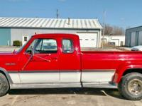 1 OWNER 1992 Dodge Club Cab D350 SE, Dually,