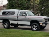 1992 Dodge Ram 250 LE Regular cab 4X4 with the very