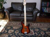1992 Fender P-Bass Plus Deluxe. Burst color with Maple