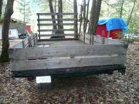 Flatbed trailer 8'x16'  elect. brakes Location: