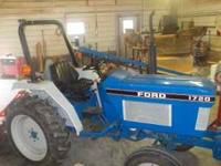 1992 FORD 1720 TRACTOR, 28 HP DIESEL. 3 PT. HITCH, 12