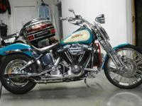 1992 Harley-Davidson FXSTS SPRINGER SOFT TAIL in teal