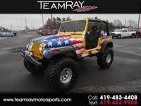 1992 JEEP WRANGLER 4X4 WITH A 350 V8 BUILT MOTOR AND