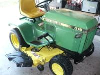 "VERY GOOD CONDITION, WITH NEWER 48"" MOWER DECK, NEW"
