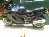 Black with purple pinstripe. Great condition. O.b.o