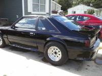 I HAVE A BLACK 1992 MUSTANG HATCH DRAG CAR FOR SALE