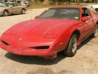 Marketing partially ONLY:. 1992 Pontiac Firebird Red.