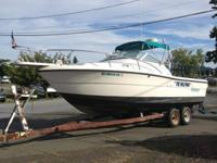 1992 Pursuit 24' walk around fishing boat. Solid boat.