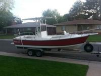 This is a 1992 Shamrock 19.6 (20 Ft. )It has the