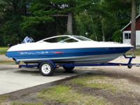 17ft runabout with Evenrude 75. Boat and motor are in