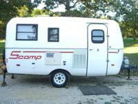 1993 16 foot Scamp Travel Trailer, Has Screen door,