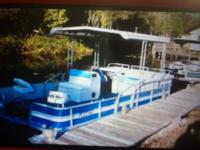 1993 21' aqua patio pontoon boat with 50 hp Nissan oil
