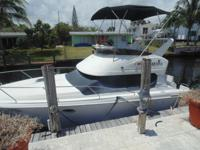 1993 31' Silverton 312, twin 5.0 mercury engines, full