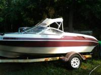 This a 1993 aquatron 18' ski boat with a 4.3 mercruiser