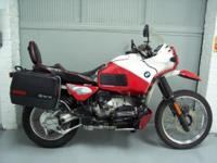1993 BMW R100GS Paris-Dakar replica, red and white with