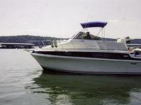 The Carver 330 Mariner offers roomy accommodations and
