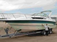 The boat is a 1993 model with twin 4.3 Yamaha IO with a