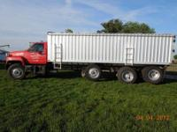 1993 Chevrolet Kodiak Tri-axle grain truck with: -23'