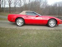 1993 Corvette convertible,red exterior,tan interior,tan