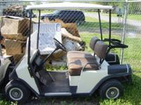 1993 EZGO MARATHON  RUNS GREAT Good Tires Flip
