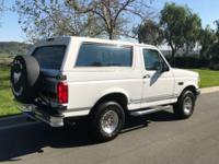 1993 Ford Bronco XLT 93,867 original miles  this bronco