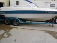 1993 four winns  21 foot open bow  always shedded wiped