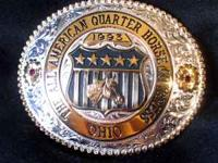 1993 GIST QUARTER HORSE CONGRESS BUCKLE~ Beautiful