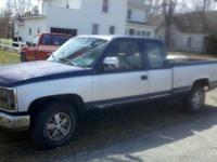 1993 GMC 1500 2wd 5.7 350.  Piece missing out of