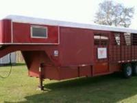 1993 Gooseneck 4 horse slant horse trailer, steel, 7'