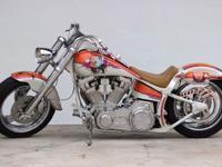 1993 Harley Davidson Fatboy Softail Orange & WhiteA