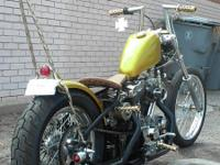 For sale is a custom built hard tail Sportster on a