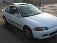 I have a white honda civic ex great car with low milage