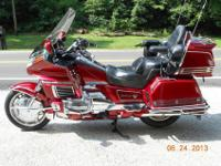 This is a 1993 Honda Goldwing GL1500 AP Motorcycle that