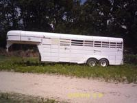 1993 HookOn gooseneck horse combination trailer. It's