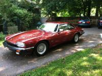 1993 Jaguar XJS 4.0 Coupe in Flamenco Red. Car has