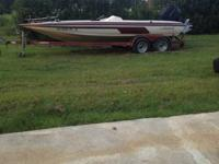 1993 javelin 20 ft boas with 200 hp evinrude. With
