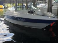 This Maxum is in amazing condition! Under 200 hours,